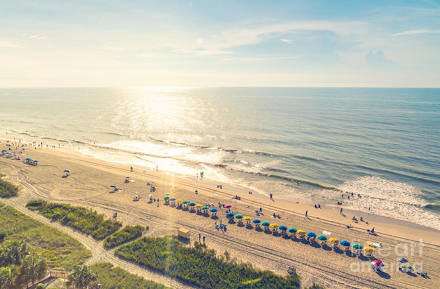 Beauty Photograph - Myrtle Beach South Carolina Aerial View by Tierneymj