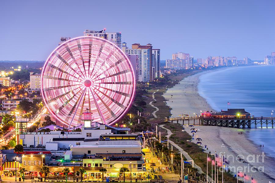 Usa Photograph - Myrtle Beach, South Carolina, Usa City by Sean Pavone