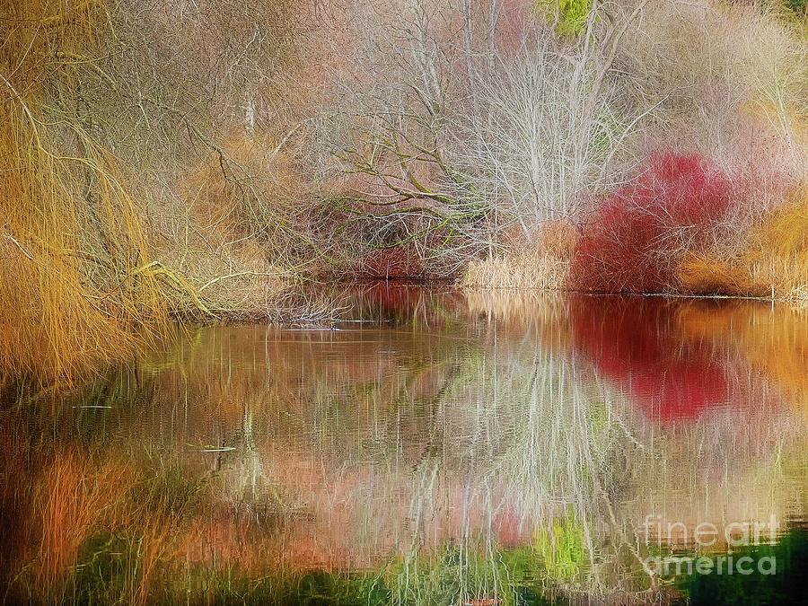 Mysterious Fall Pond Painting