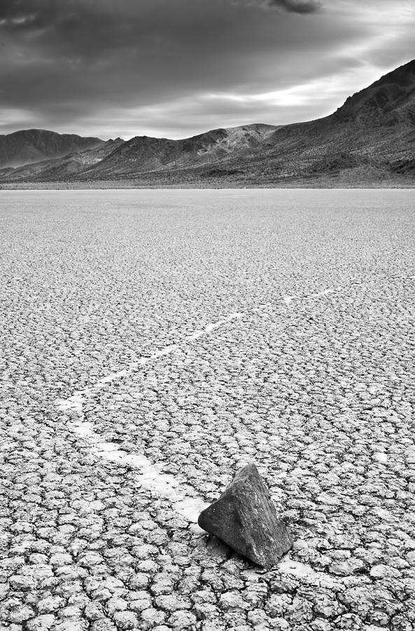 Mysterious Moving Rocks At The Photograph by Enrique R. Aguirre Aves