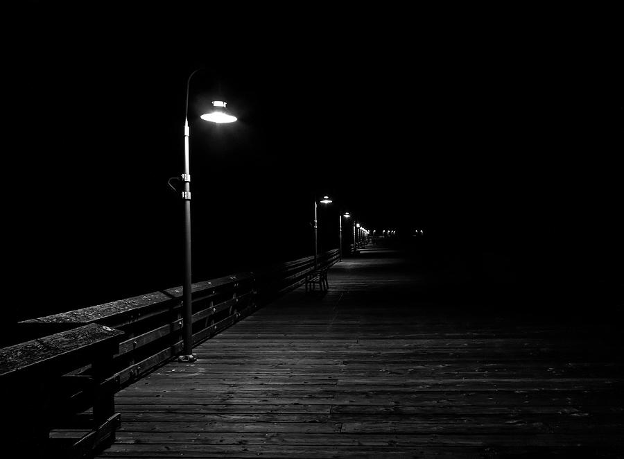 Mysterious Pier at Night by John Daly