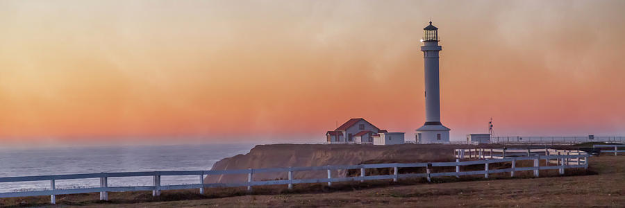 Lighthouse Photograph - Mysterious Point Arena Lighthouse California  by Betsy Knapp
