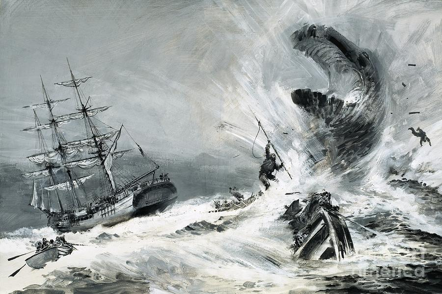 Mysterious Sea Monster Painting By Graham Coton
