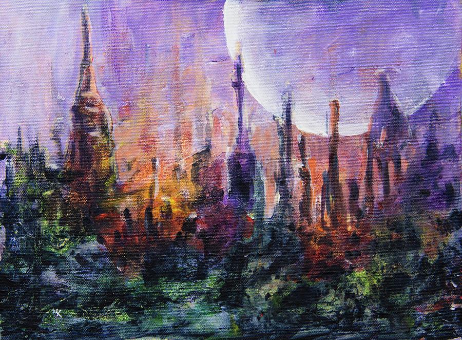 Mystery Garden Alien Planet by Yulia Kazansky