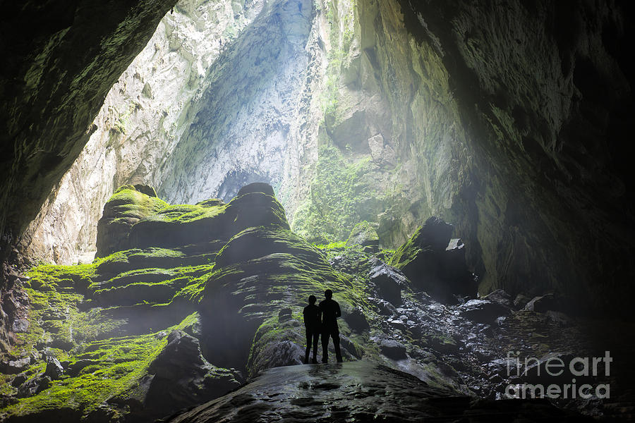 Big Photograph - Mystery Misty Cave Entrance In Son by Vietnam Stock Images