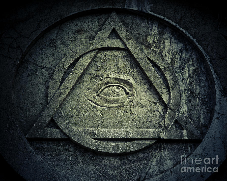 Mystic Eye Symbol With Interlocking Photograph by Thepalmer