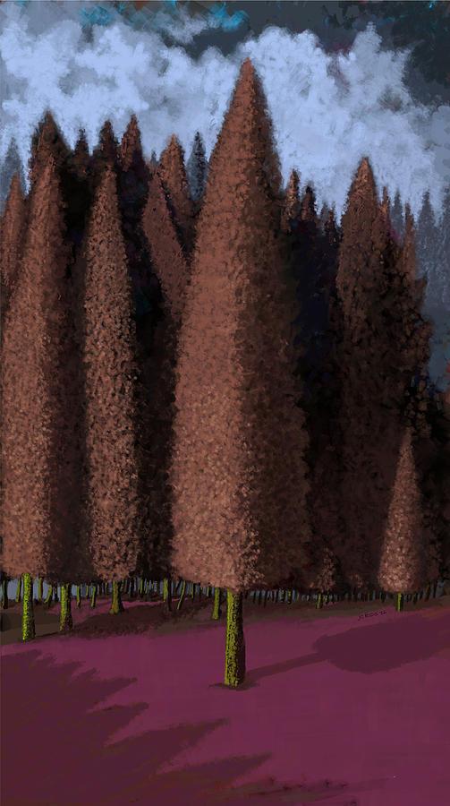 Trees Digital Art - Mystic Forest by Juan Carlos Rios