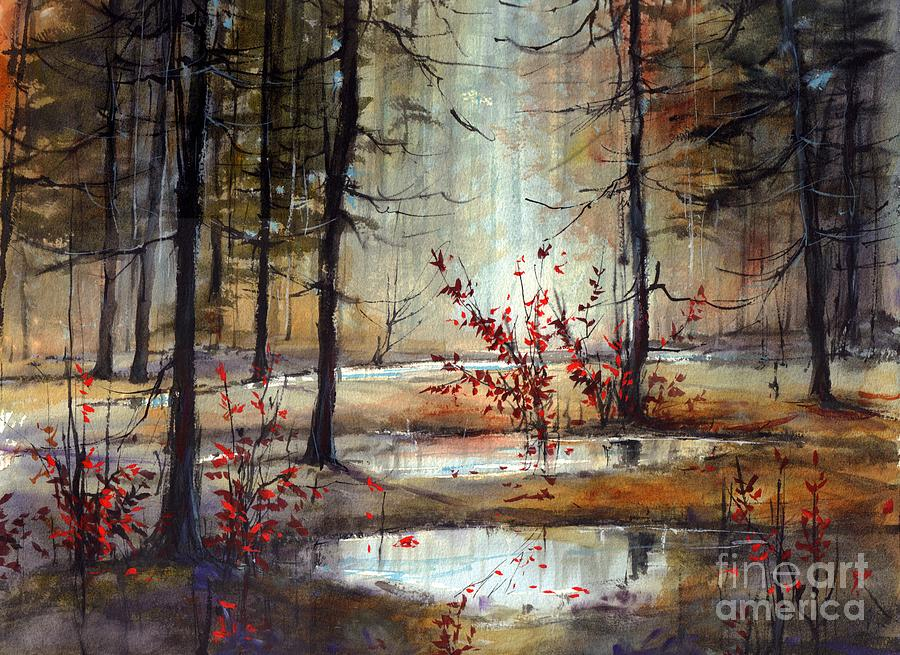 Wild Painting - Mystic Forest by Suzann Sines