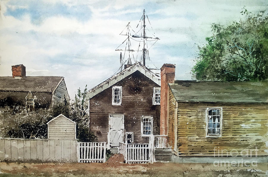 Mystic Masts Painting by Monte Toon