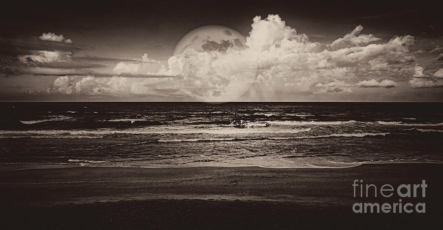 Mystic Moon in Sepia by Judy Hall-Folde