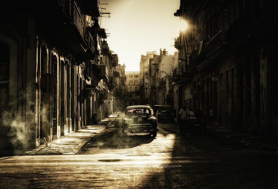 Street Photograph - Mystic Morning In Havana... by Baris Akpinar