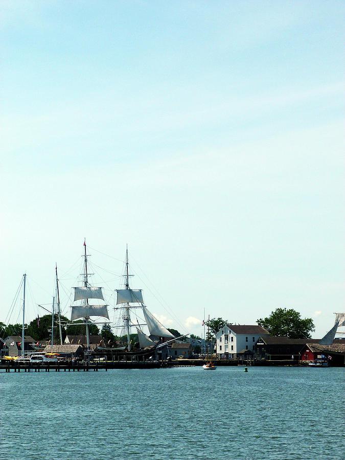 Mystic Seaport Harbor by Toni Leland