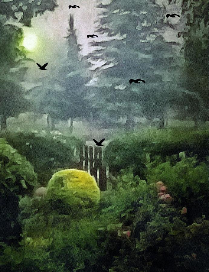 Mystical Garden Mixed Media