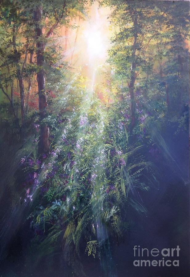 Mystical Morning Sunlight Painting