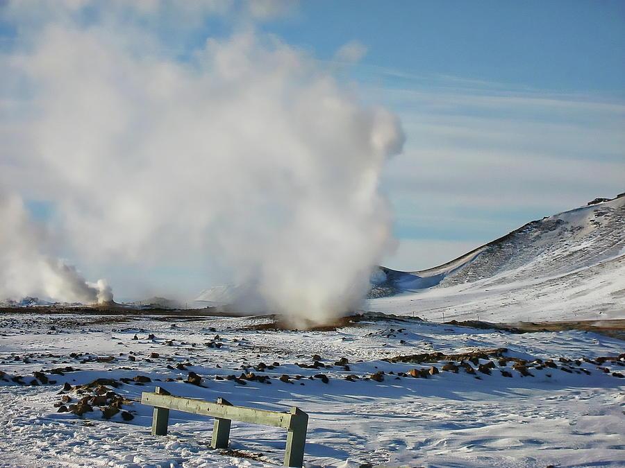 Myvatn Winter Landscape by Anthony Dezenzio