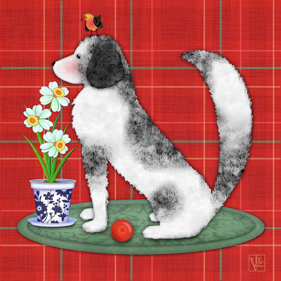 N is for Newfoundland Dog by Valerie Drake Lesiak