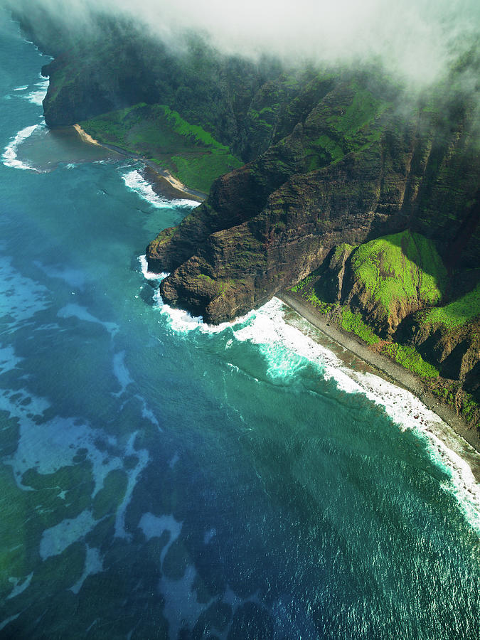Na Pali Coast Kauai Island Hawaiian Photograph by Mlenny
