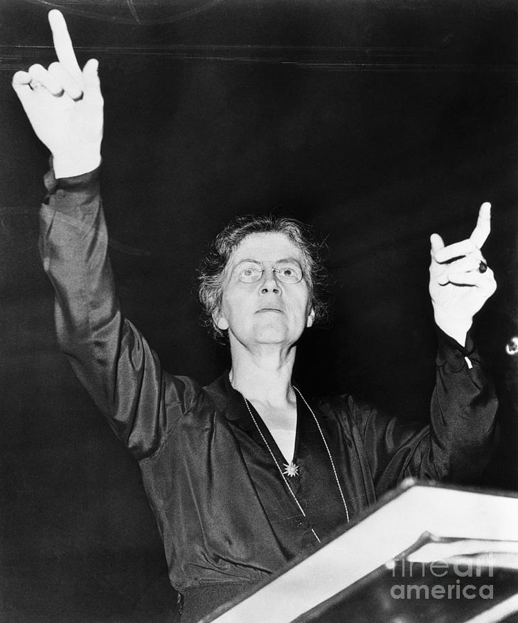 Nadia Boulanger Conducting Philharmonic Photograph by Bettmann