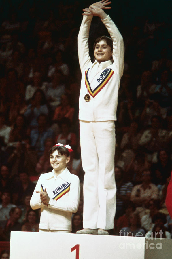 Nadia Comaneci During Olympic Games Photograph by Bettmann