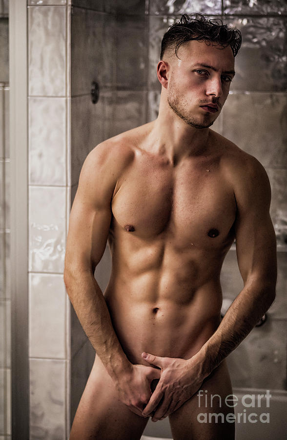 Naked and athletic Naked Athletic Handsome Young Man In Bathroom Photograph By Stefano Cavoretto