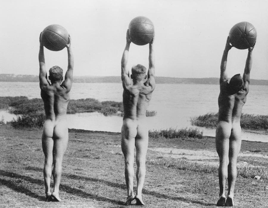 Naked Ball Exercise Photograph by General Photographic Agency