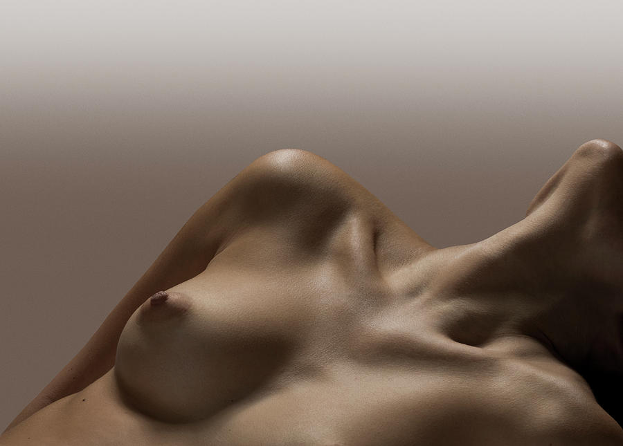 Naked Female, Female Breast, No Face Photograph by Jonathan Knowles