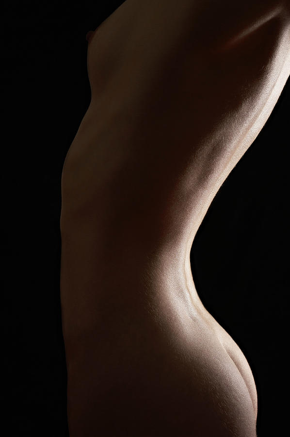 Naked Woman, Mid Section, Side View Photograph by Shalom Ormsby