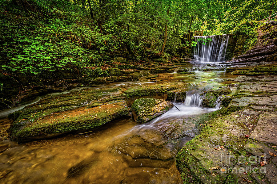 Waterfall Photograph - Nant Mill Falls Wales by Adrian Evans