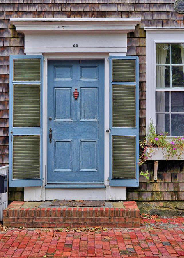 Nantucket Photograph - Nantucket Blue Door by JAMART Photography