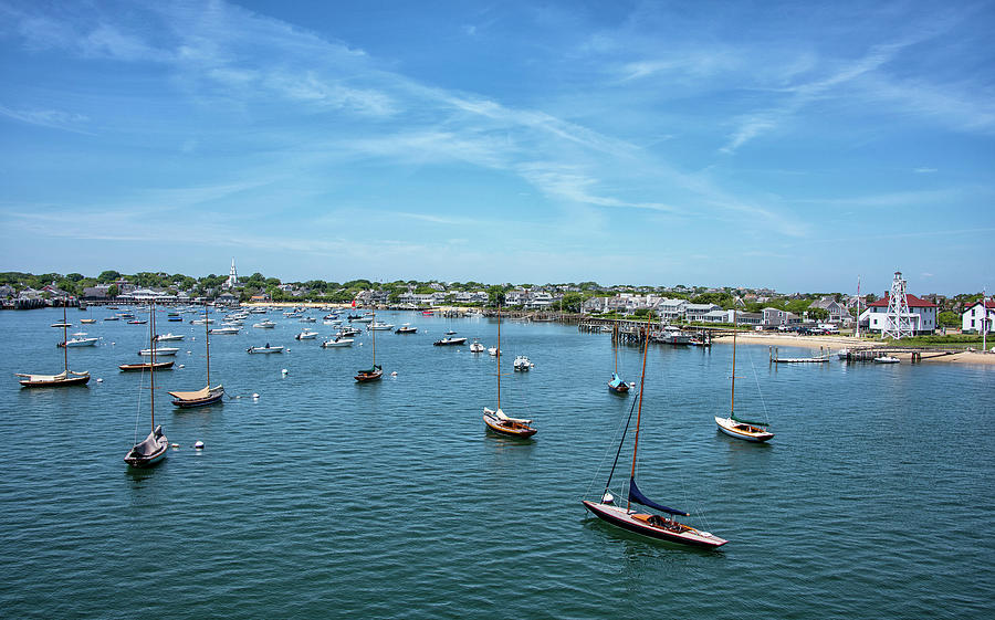 Childrens Photograph - Nantucket Harbor And Boat Basin - Nantucket Massachusetts by Brendan Reals