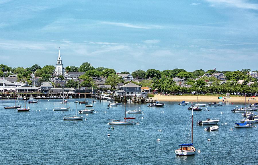 Childrens Photograph - Nantucket Harbor And Childrens Beach - Nantucket Massachusetts by Brendan Reals