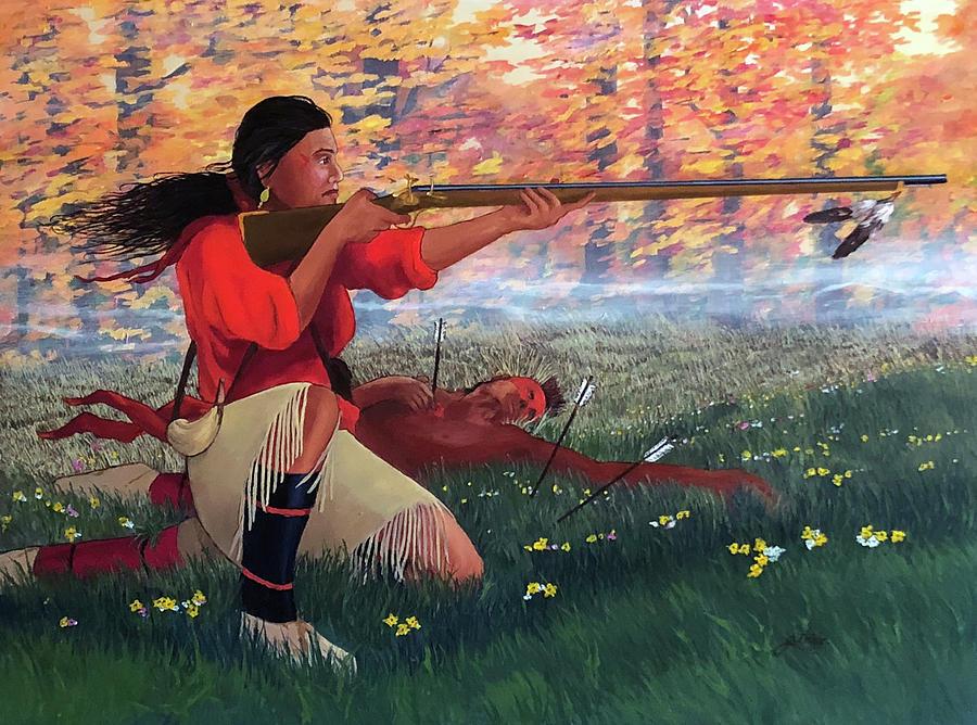 Nancy Ward Painting - Nanyehi at Taliwa by John Guthrie