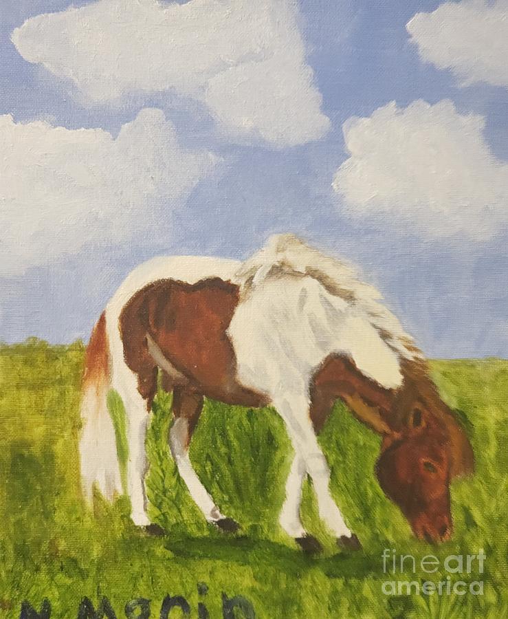 Naomi Painting - Naomis Horse by Barbara Haviland