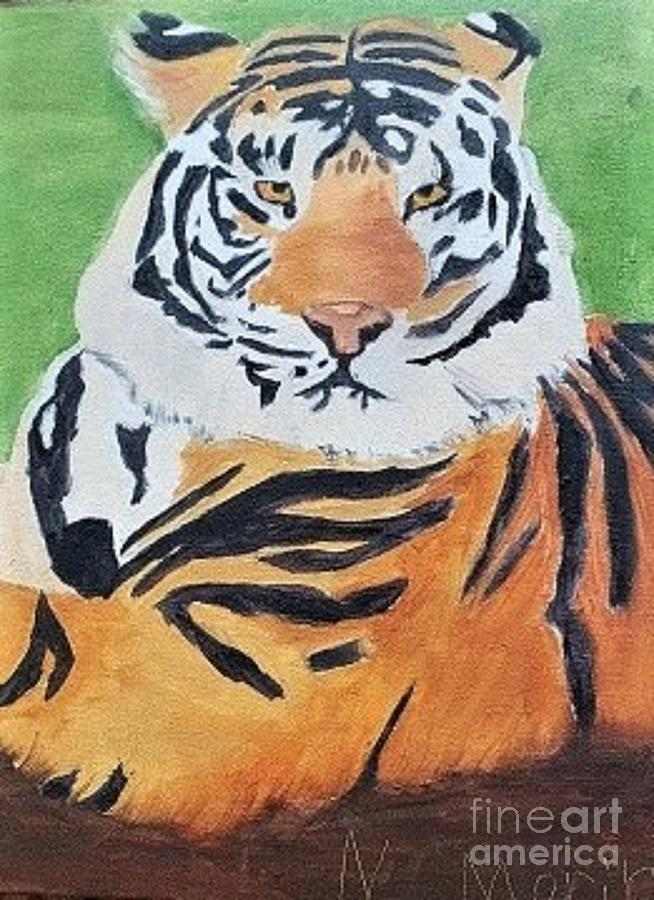 Tiger Painting - Naomis Tiger by Barbara Haviland