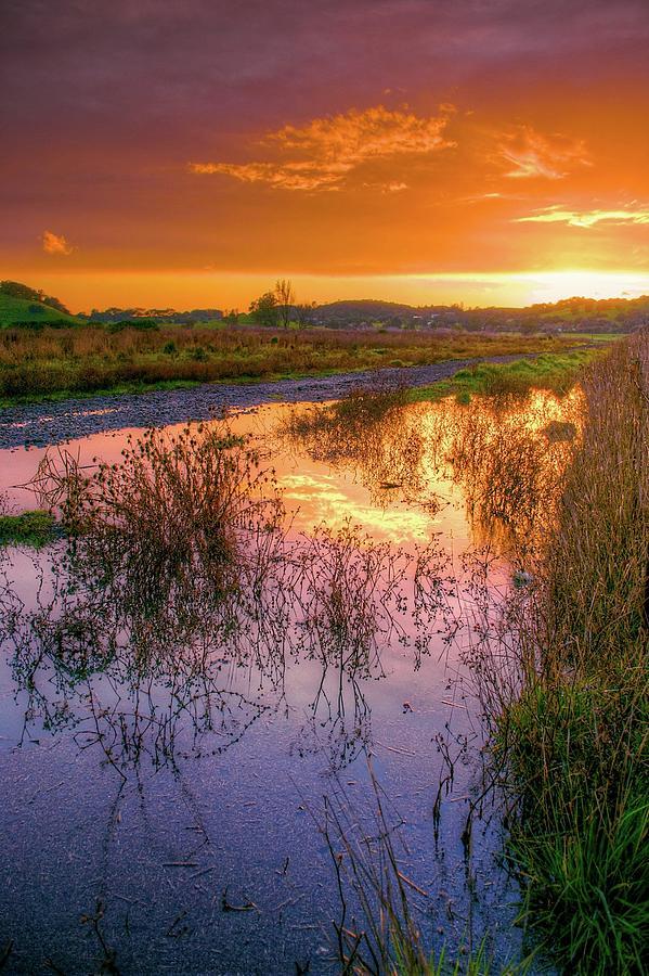 Napa Valley At Sunset Photograph by Joseph Burke