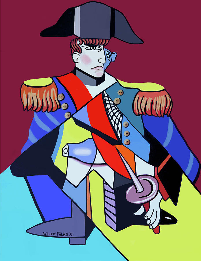 Cubism Painting - Napoleon by Anthony Falbo