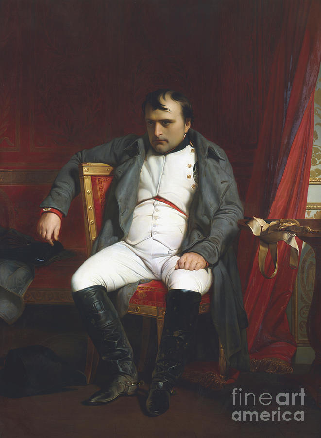 Napoleon At Fontainebleau Drawing by Print Collector