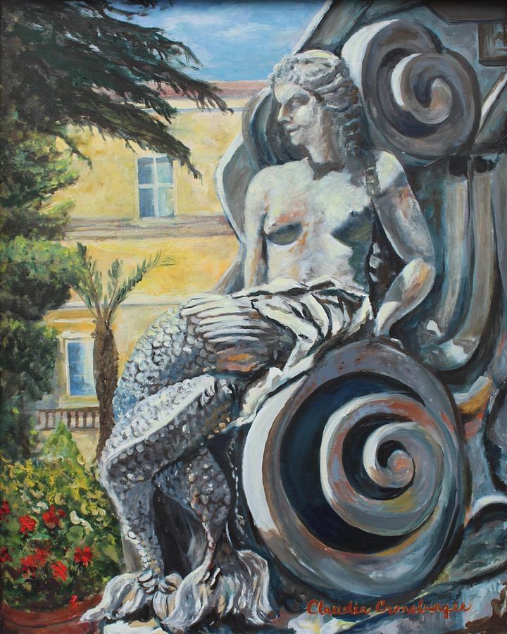 Mermaid Painting - Napoli Mermaid by Claudia Croneberger