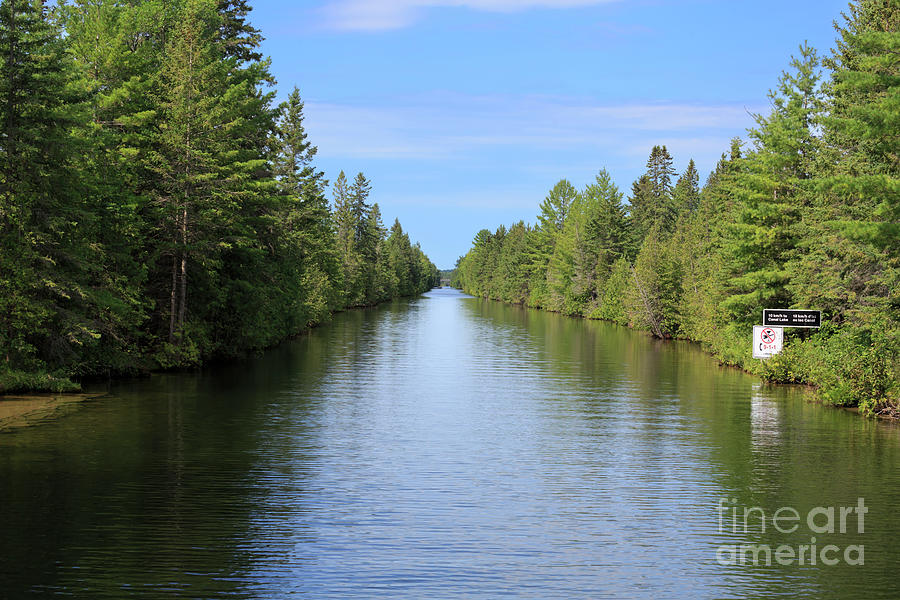 Narrow Photograph - Narrow Cut On The Trent Severn Waterway by Louise Heusinkveld