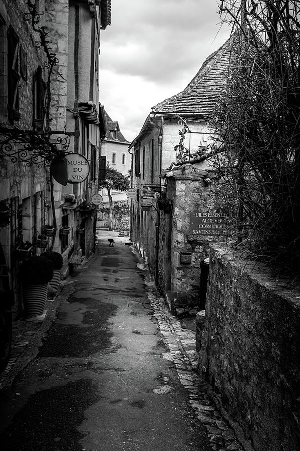 Narrow Streets of Saint Cirq Lapopie by Georgia Fowler