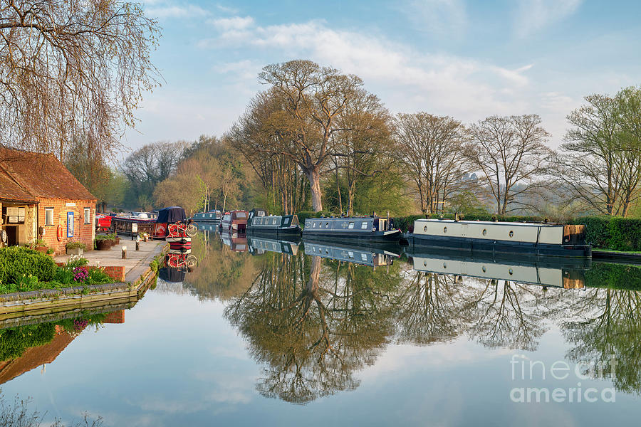 Narrowboats at Thrupp by Tim Gainey