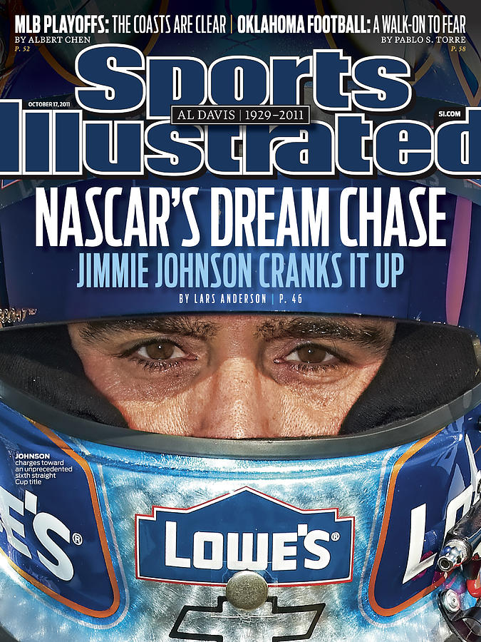 Nascars Dream Chase Jimmie Johnson Cranks It Up Sports Illustrated Cover Photograph by Sports Illustrated