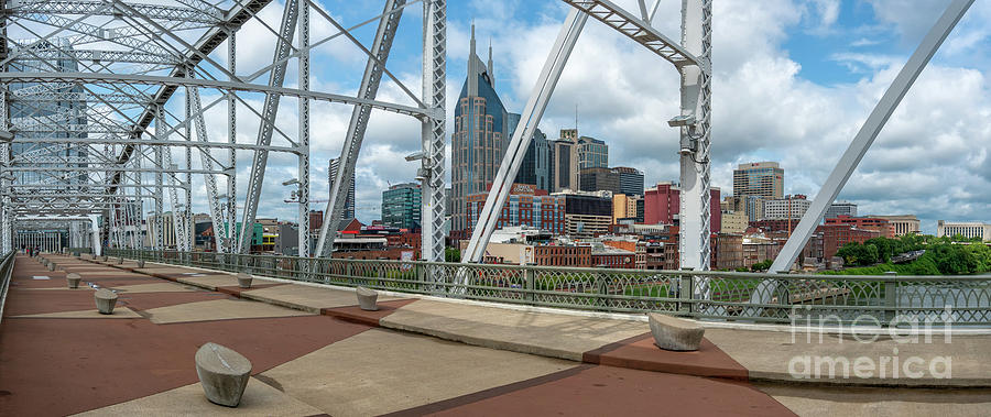 Nashville Cityscape from the Bridge by David Smith