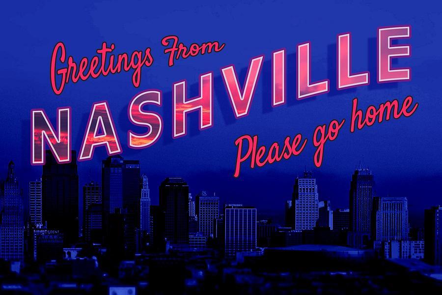 Nashville Digital Art - Nashville Postcard by Emily Warren