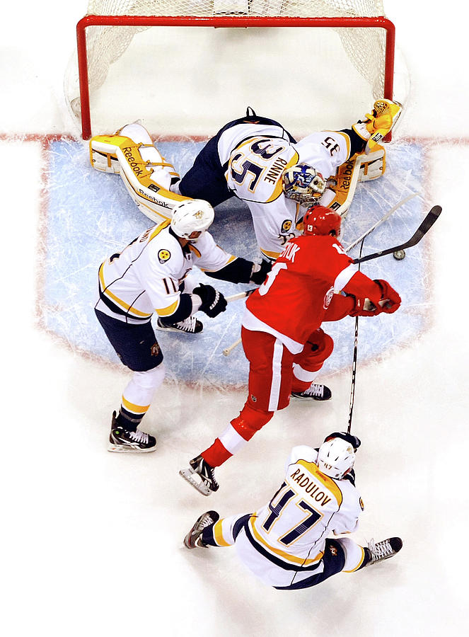 Nashville Predators V Detroit Red Wings Photograph by Gregory Shamus