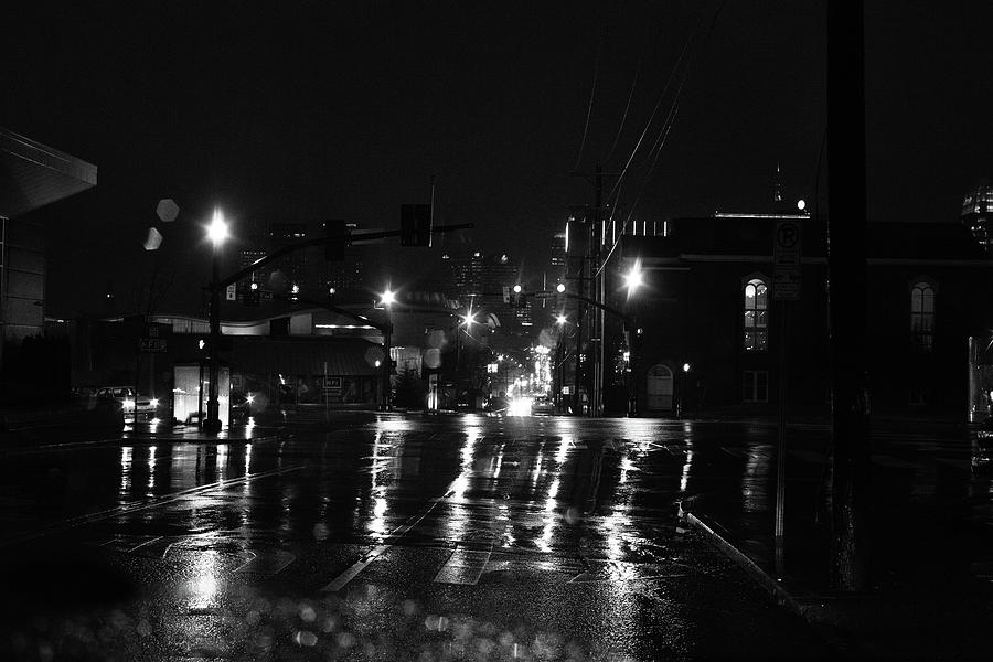 Nashville Wet Streets at Night by Keith Dotson