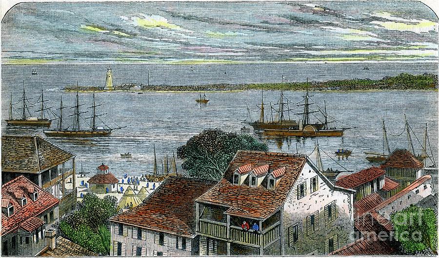 Nassau, Bahamas, C1880 Drawing by Print Collector