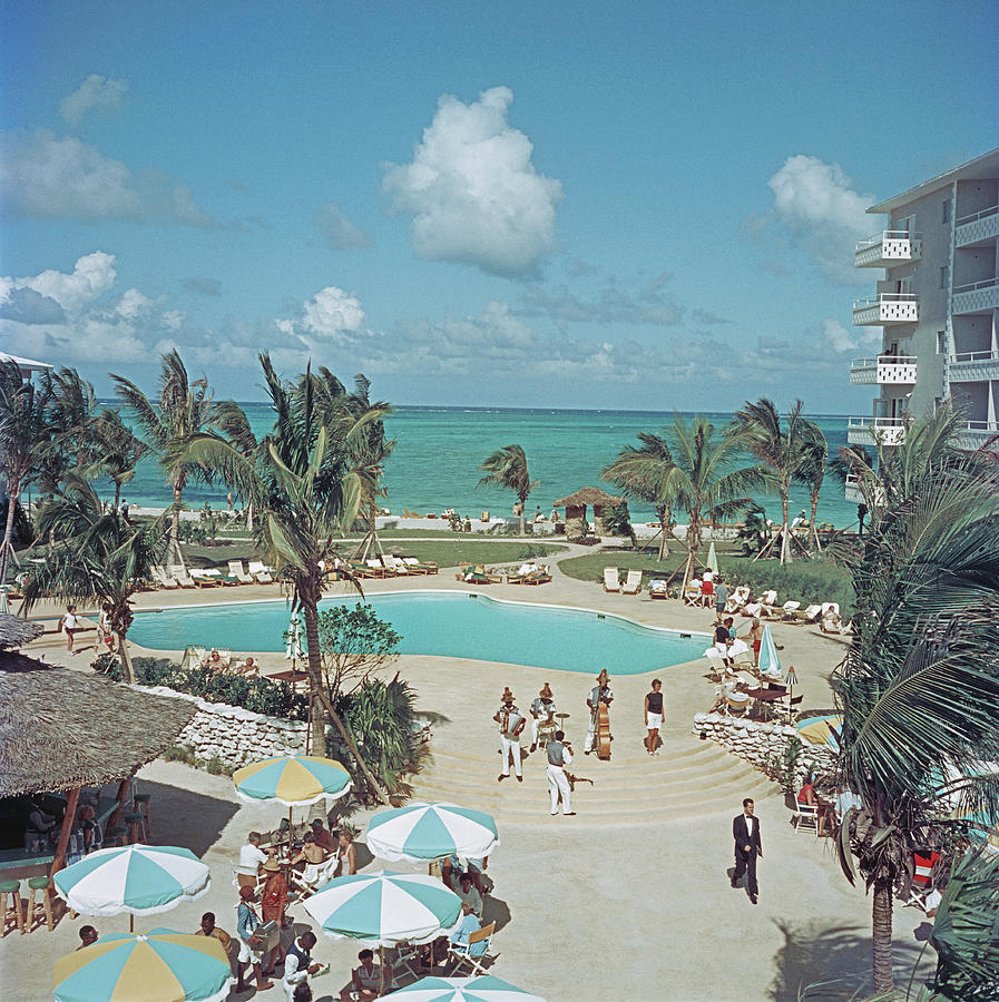 Nassau Beach Hotel Photograph by Slim Aarons