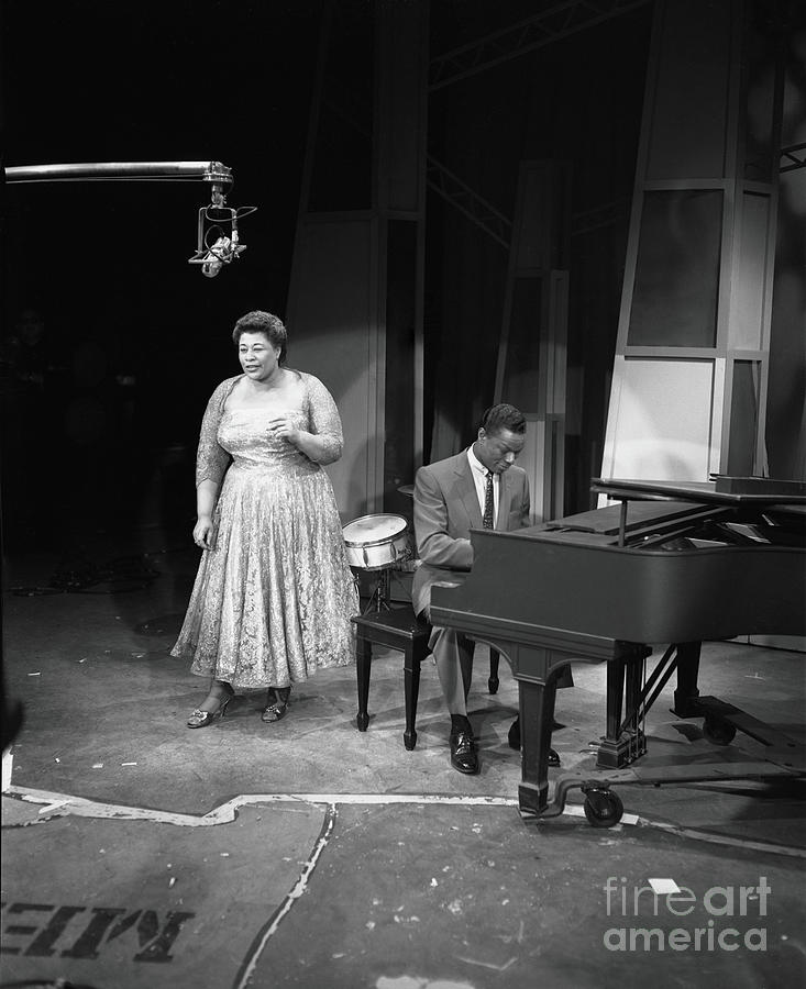 Nat King Cole Performs With Ella Photograph by Cbs Photo Archive