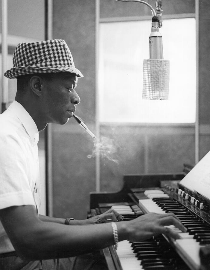 Nat King Cole Recording Photograph by Michael Ochs Archives